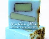 SOAP - Cocoa de Menthe Soap, Mint Soap, Chocolate Soap, Vegan Soap, Peppermint Soap, Soap Gift, Blue Soap