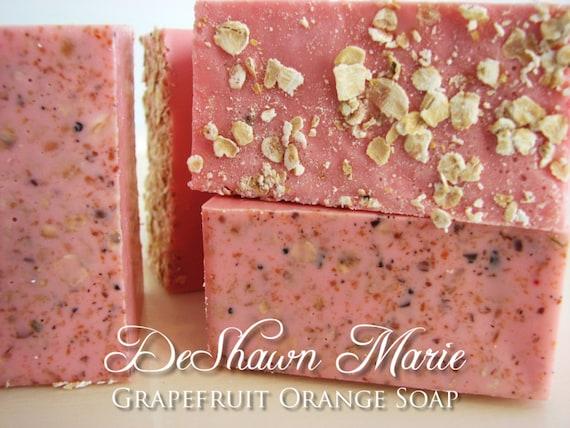 SOAP- Grapefruit Orange Soap - Vegan Soap - Handmade Soap - Citrus Soap- Soap Gift