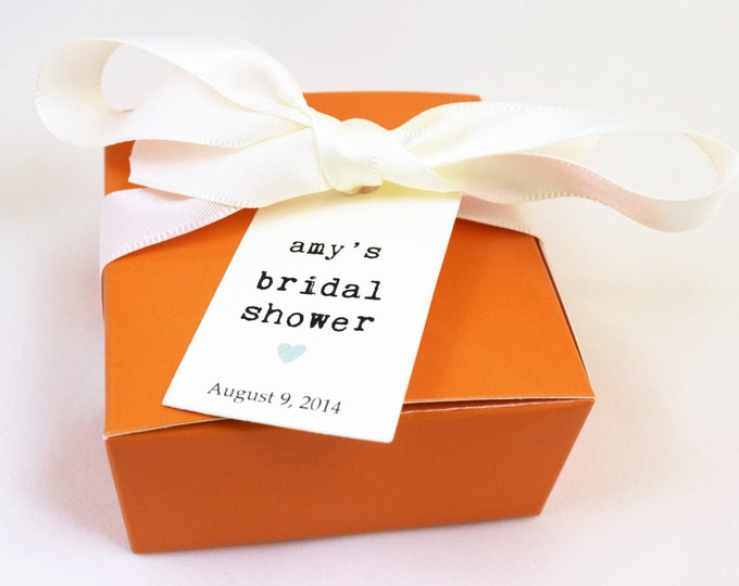 SOAP FAVORS - bridal shower favors, wedding favors, vegan favors, orange favors, party favors, gifts
