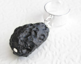 Tektite Ear Cuff: Meteorite Jewelry, Outer Space Cartilage Earring, Astronomy Gift