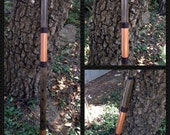 Mojave Style Flute in Darkened Pine, Copper Accents