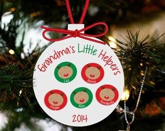 Grandma's little helpers personalized ornament- sweet Christmas gift for grandma GLHO