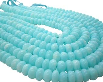 Blue Peruvian Opal Beads, Peruvian Opal Beads, Blue Opal Beads, Rondelles, SKU 5056