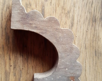 Antique Wooden Bracket Salvage Reuse Repurpose