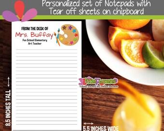 Art Teacher Notepad - Artist Notepad - Personalized Notepad - Art Teacher Personalized Stationery - Personalized Gift for Art Teacher
