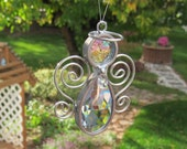 Prism Angel Suncatcher Ornament Crystal Sun Catchers Window Hanger Rainbow Maker