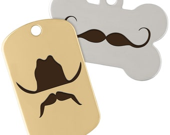 dogIDs Signature Mustache Dog Tags