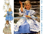 532 Style 2604 Girls Dress in 4 Variations, sizes 3 4 5 6 7 8 Party Dress Flower Girls Dress Special Occasions Vintage Sewing Pattern Uncut