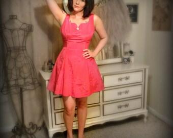 Vintage Gunne Sax Hot Pink Party Dress - Size XS