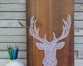 Bambi The Buck, Headshot - Modern String Art Tablet