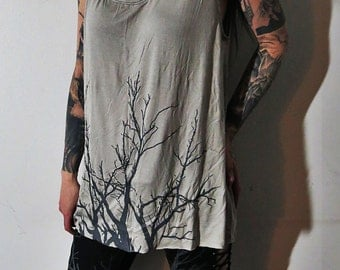 Hell Couture Gray Lavinia Slouch Tunic Tank