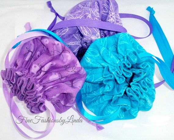 Jewelry Bags, Pick Three, Your Choice, Cottons, Patterns, Paisleys