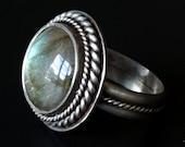 Ice Queen Labradorite Ring
