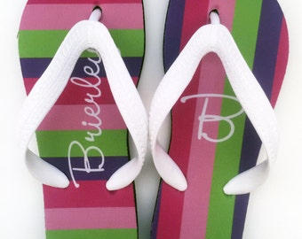 PRINCESS personalized flip flops in adult and kid sizes