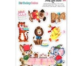 Animal Birthday Retro Planner Scrapbook Cardmaking Stickers | ST-57CK01