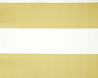 Yellow White Stripe Curtain, Pair of Rod Pocket Panels, Premier Prints Cabana Saffron Yellow, Butter Golden Yellow, Choose Size
