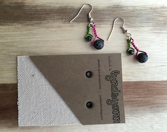 Twisted Neon Earrings