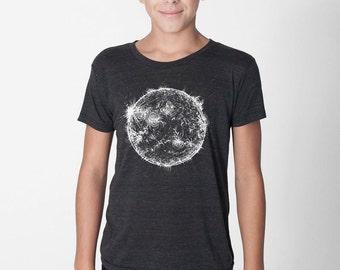 Kids Space Shirt, Sun Shirt, Solar System tshirt, Astronomy tee, sunshine shirt, monochrome kids science shirt children toddler youth tshirt