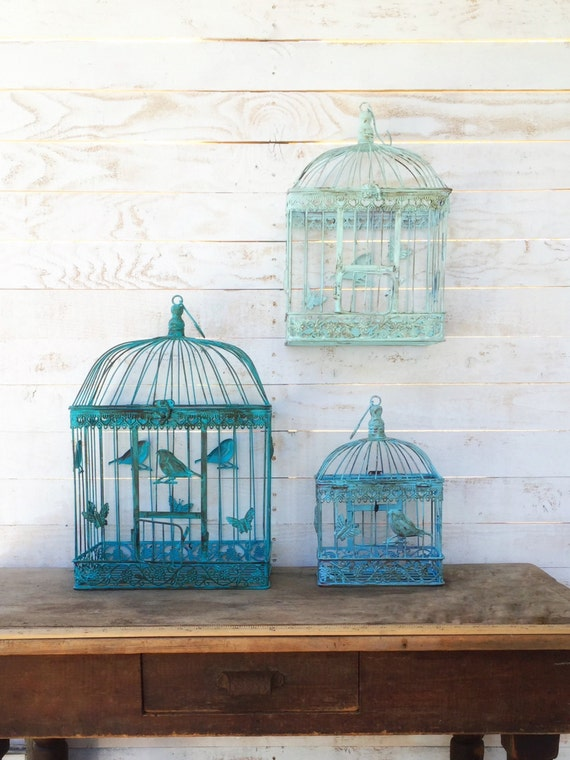 Bird cage aqua home decor anthropologie style by camillacotton for Home decorating like anthropologie