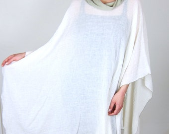 Sheer Cotton 70's Poncho