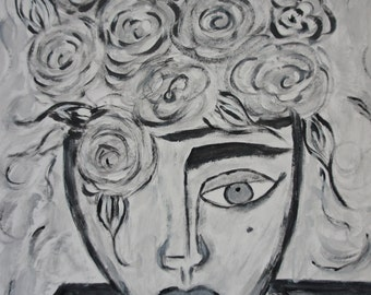 Homage to Picasso a Vase Face painting by Joan Princing Art