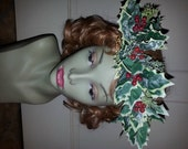 RESERVED For Karena Holly head wreath holiday Christmas hair wreath Angel play pageant Adult