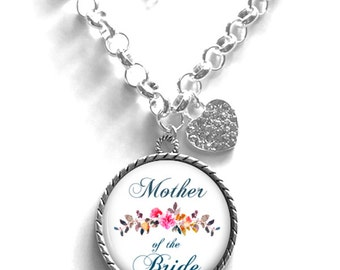 Mother of the Bride Necklace, Wedding Day Necklace, Gift for Mother of the Bride, Keepsake Necklace Style (656)