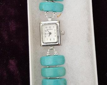 Magnesite Gemstone Bracelet Watch