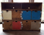 TV cabinet/ TV stand/ wood cabinet/ Wood TV cabinet/ wood dresser/ Reclaimed wood look Tv cabinet bench dresser