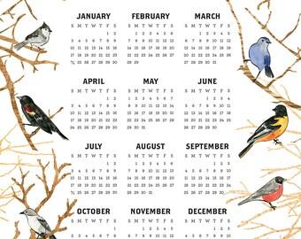2016 New England Bird Calendar