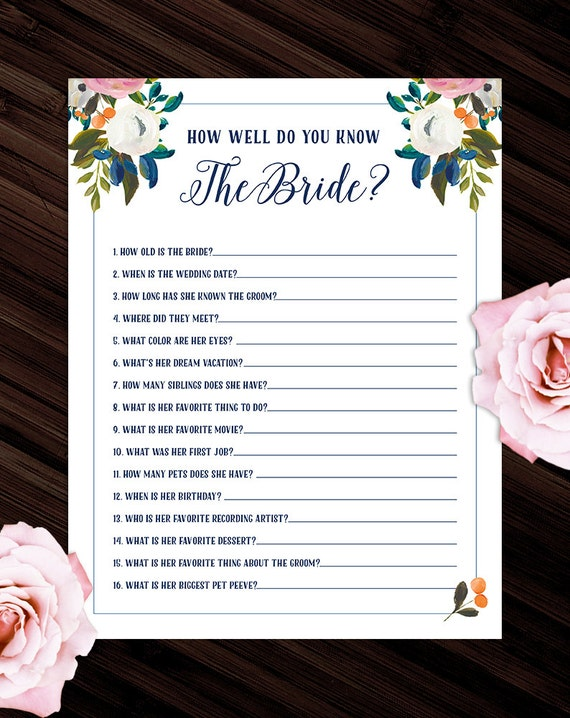 How Well Do You Know The Bride: How Well Do You Know The Bride Game Traditional By BeckyNimoy