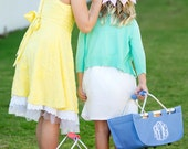 Personalized Easter Basket Tote 10 Colors PREORDER