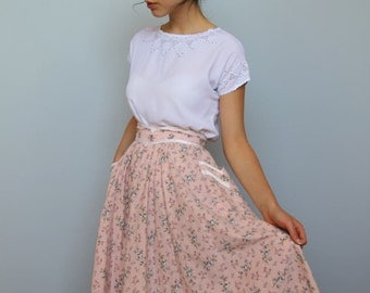 the hissing of summer lawns -- vintage 1970s gunne sax skirt XS