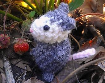 Bitty Possum - crochet possum - amigurumi opossum - crochet opossum - stuffed possum toy - possum plush - amigurumi possum