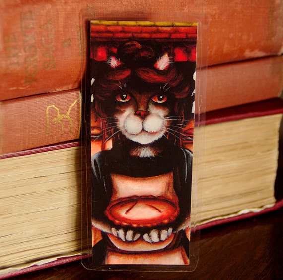 Mrs Lovett Cat Bookmark Sweeney Todd Meat Pie Baker Cat Bookmark