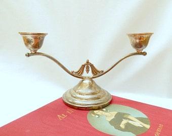 sterling silver candle holder, Art Deco, stamped, dated 1941, vintage home decor, candelabra, wedding decor