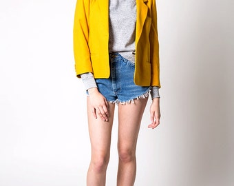 The Vintage Mustard Yellow Wool USA-Made Blazer Jacket