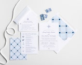 Compass Rose Wedding Invitation Collection, Wedding Announcement