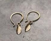 Gold Leaf…medium petite 14k gold earrings
