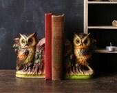Vintage Owl Bookends Ceramic Made in Japan 60s From Nowvintage on Etsy