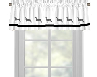 Weimaraner Dog Window Valance Curtain - Your Choice of Colors