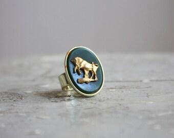 golden bestiary ring