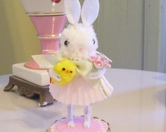 Sweet Little Cottontail Bunny...Great for Spring Decorating and Easter