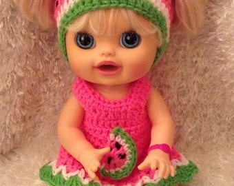 Clothes For 16 Inch Dolls . Watermelon Dress Set