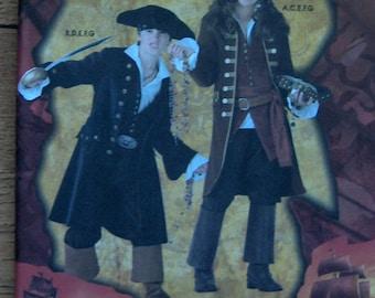 2007 simplicity pattern 3644 pirate of Caribbean costumes children sz 7-14 uncut pirates boy girl Jack Sparrow