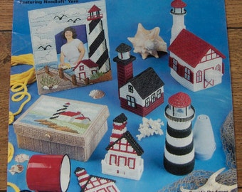 1999 Plastic Canvas pattern LIGHTHOUSE Decor
