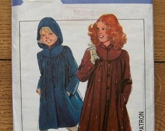 Vintage 80s Style pattern 3113 Girls COAT sz 6