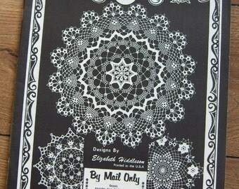 Vintage 70s crochet pattern Elizabeth HIDDLESON doilies volume 27