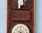 """Assemblage Found Object Shrine Mixed Media Art """"Honor"""""""