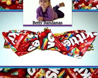 KIDS...Betty Bandana in Skittles Print....New Size & Style